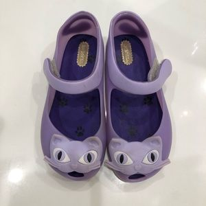Mini Melissa flats size 10 Cat face collection